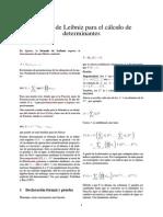 Fórmula de Leibniz Para El Cálculo de Determinantes