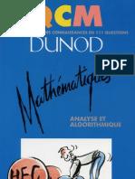 Qcm - Analyse Algorithmes- DUNOD