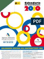 Calendario (2010) contribuyente de la Agencia Tributaria.