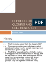 reproductive cloning and stem cell research