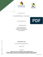 Modelo Paruyjkuka Formar 2014 de Plan de Emergencia y Evacuacion