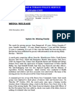 Media Release - Missing Persons