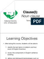 Clause(I) Noun Clause