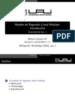 Regresion Multiple 1-Motivacion y Estimacion