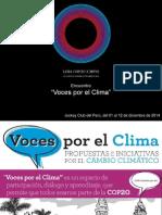 4.COP20. Presentación sobre VOCES POR EL CLIMA. 7 Nov. 2014 -