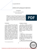 A Review of Washback and Its Pedagogical Implications