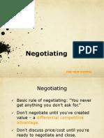 Negotiating