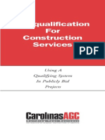 PreQual of Contractors