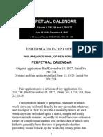 William James Sidis_perpetual Calendar