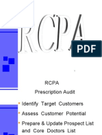 RCPA Prescription Audit  Identify Target Customers  Assess Customer