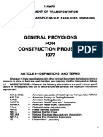 SDOTA General Provisions for Construction Projects 1977