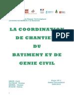 Coordination Chantier Batiment Genie Civil