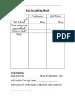 lesson 4 - lab recording sheet