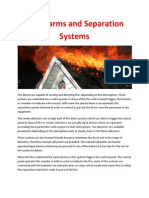 Fire Alarms and Separation Systems