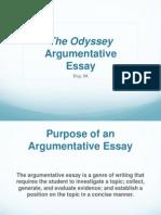 argumentative essay theodyssey