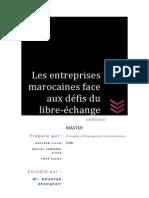Les Entreprises Marocaines Face Aux Défis Du Libre Échange