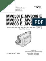 Canon MV 700-800 Series Service Manual
