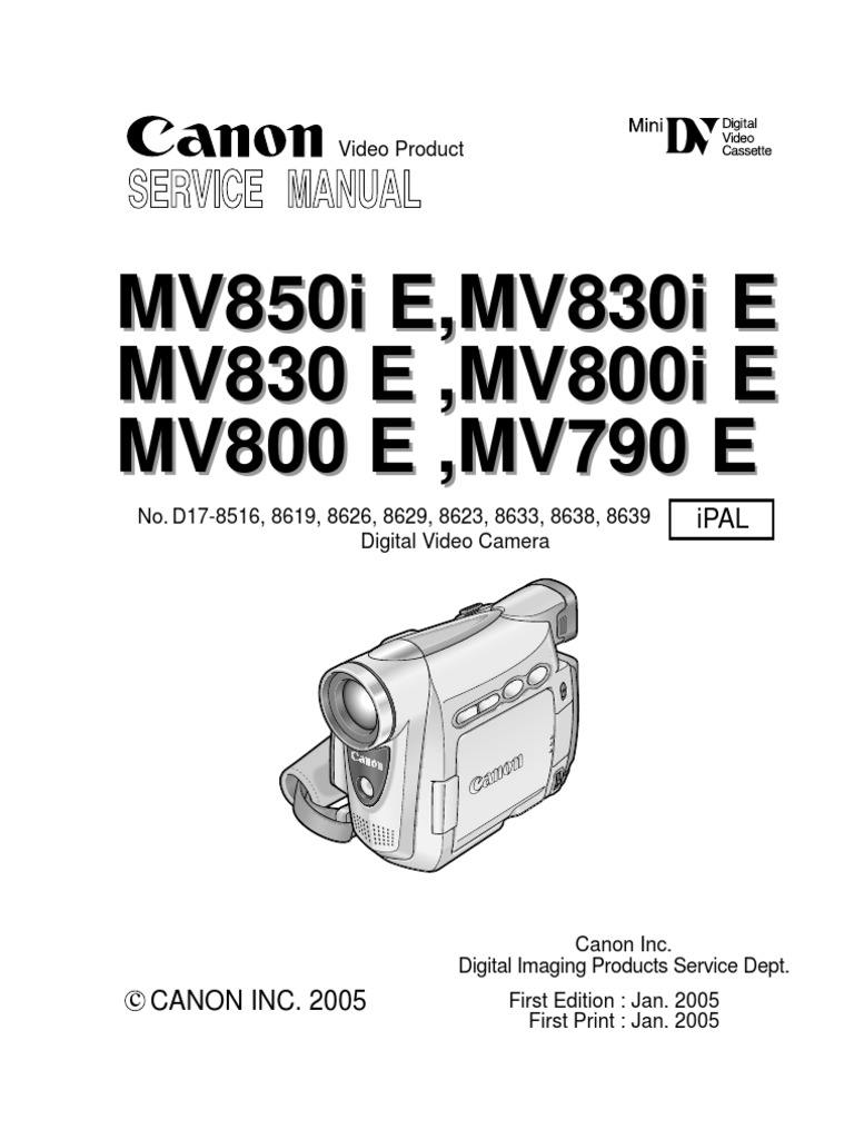 CANON MV850I MANUAL PDF