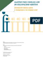 Dossier Divulgativo Para Familias Con Hijos:As Con Discapacidad Auditiva