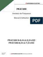 FR - E - 500 variateur de fréquence