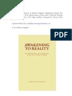 Awakening to Reality (Wuzhen Pian) -- Introduction
