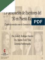 La Generacion Del 50 en Puerto Rico