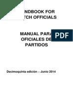 Manual para oficiales de partidos 15edic Español Corregido