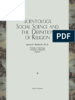Beckford, Sociology, Social Science and the Definition of Religion
