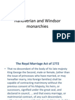 Hanoverian and Windsor Monarchies