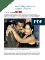 Sri Lanka Karuna's Allegations About IPKF's Human Rights Violations