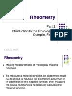 II. Rheometry
