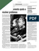 Artículo Musica ayuda a resolver problemas