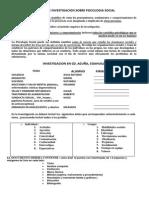 Estudio de Investigacion Sobre Psicologia Social