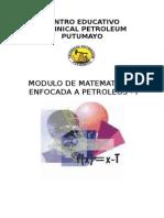 Modulo de Matematicas Enfocada a Petroleo i