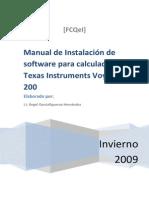 manual de instalacion en Calculadora voyage 200