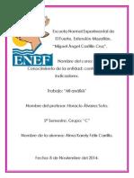 UA2.4 Mi Analisis. Tema. Avances en La Elaboracion de Estudios Para Sustentar Nuevos Indicadores.