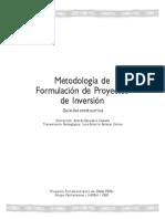 Guia Metodologia Formulacion de Proyectos de Inversion FAMP-es