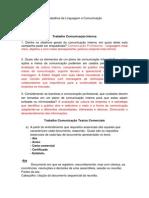 Trabalhos de Linguagem e Comunicação