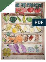 Colaj - Legume Si Fructe - fise de lucru