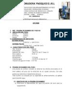 Informe Prueba Bombeo Pozo 02