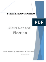Final Report by Supervisor of Elections