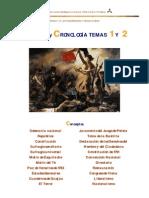 CONCEPTOS  Y CRONOLOGÍA 4º ESO. TEMAS 1 Y 2