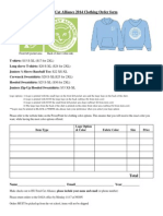 feral cat alliance 2014 clothing order form