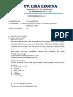 Contoh Metoda Bronjong Kawat (Perkuatan Tebing)