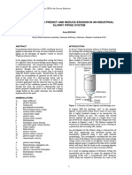 USE OF CFD TO PREDICT AND REDUCE EROSION IN AN INDUSTRIAL SLURRY PIPING SYSTEM