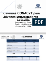 Informe Resultados Asignacion de Catedras Conacyt