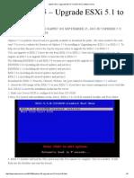 VSphere 5.5 – Upgrade ESXi 5.1 to ESXi 5