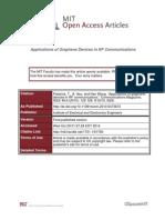 Application of Graphene in RF