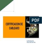 certificacion cableado redes