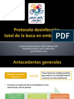 Protocolo desinfección